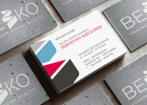 Logo-Design für BEKO Concrete Design Quality, ein Unternehmen für Beton Kosmetik, Beton Restaurierung, Betondesign und -imitierung sowie Beton Hydrophobierung